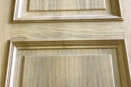 Производство межкомнатной двери беленый дуб