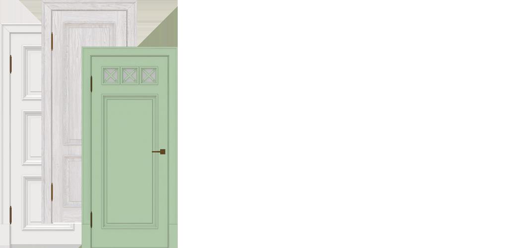 Бельские двери - фото с тремя дверьми